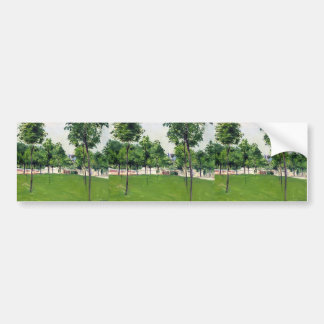 Gustave Caillebotte- Promenade at Argenteuil Bumper Sticker
