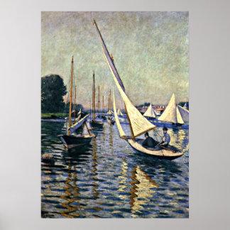 Gustave Caillebotte: Regatta at Argenteuil Poster
