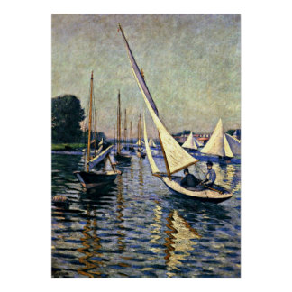 Gustave Caillebotte Regatta at Argenteuil Print