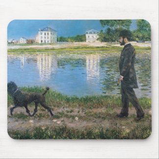Gustave Caillebotte - Richard Gallo and His Dog Mouse Pad