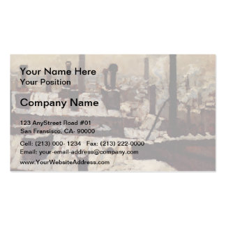 Gustave Caillebotte- Roof under the Snow, Paris Business Card Template