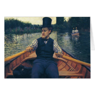 Gustave Caillebotte- Rower in a Top Hat Card