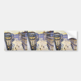 Gustave Caillebotte- Rue Halevy from Sixth Floor Bumper Stickers