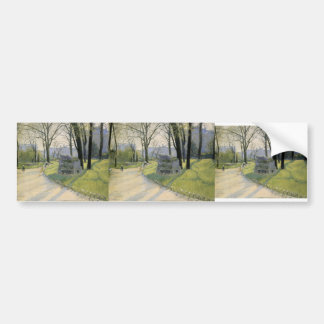 Gustave Caillebotte- The Park Monceau Bumper Stickers