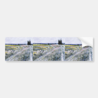 Gustave Caillebotte- The Plain at Gennevilliers Bumper Stickers