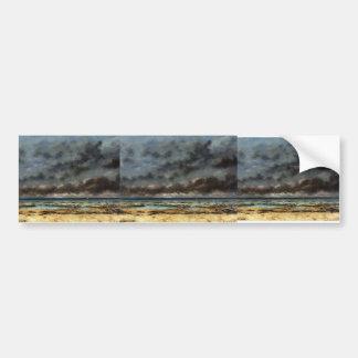 Gustave Courbet- Calm Seas Bumper Sticker