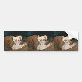 Gustave Courbet- Study for Les Demoiselles des Bumper Sticker