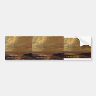 Gustave Courbet-The Beach at Trouville at Low Tide Bumper Sticker