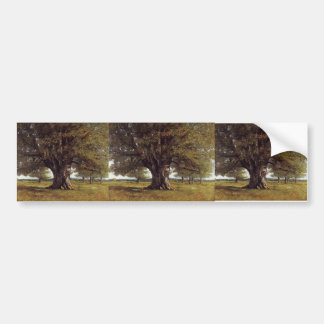 Gustave Courbet- The Oak of Flagey Car Bumper Sticker