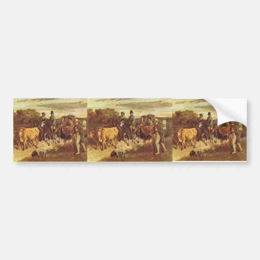 Gustave Courbet- The Peasants of Flagey Returning Bumper Stickers