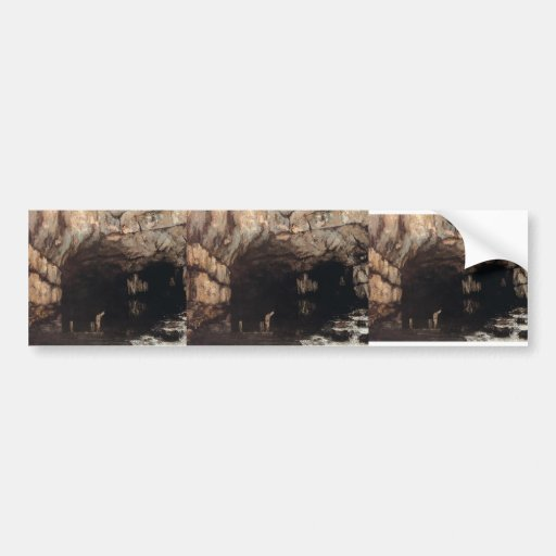 Gustave Courbet- The Source of the Loue River Bumper Stickers