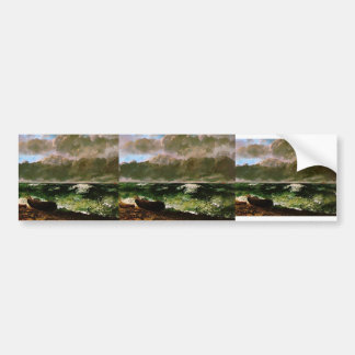 Gustave Courbet- The Stormy Sea Bumper Sticker