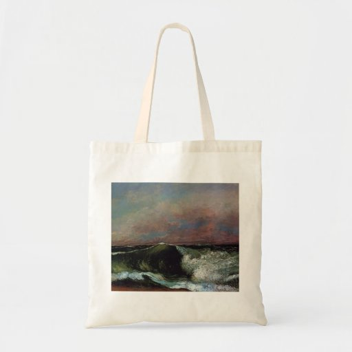 Gustave Courbet- The Wave Canvas Bags
