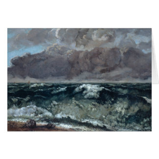 Gustave Courbet - The Wave Card