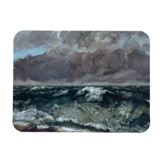 Gustave Courbet - The Wave Rectangular Photo Magnet