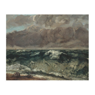 Gustave Courbet - The Wave Wood Prints