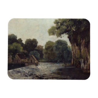 Gustave Courbet - The Weir at the Mill Rectangular Photo Magnet