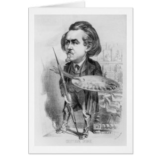 Gustave Dore (1832-83), caricature from 'Le Boulev Card