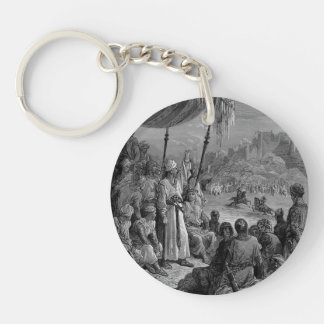 Gustave Dore: A Friendly Tournament Single-Sided Round Acrylic Key Ring