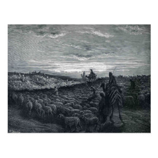 Gustave Dore:Abraham Journeying  to Land of Canaan Postcard