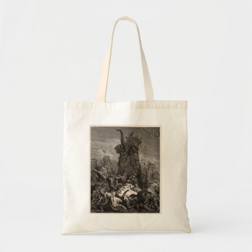 Gustave Dore: Death of Eleazer Canvas Bag
