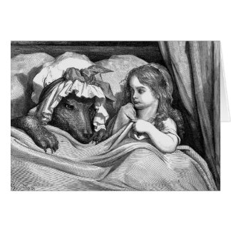 Gustave Dore - Little Red Riding Hood Card