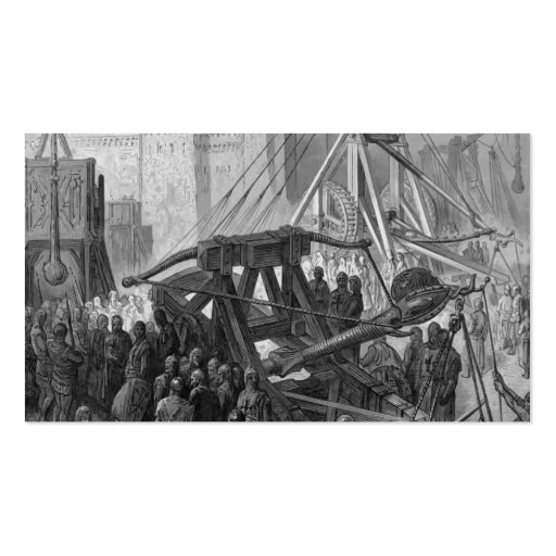 Gustave Dore: The Crusaders' War Machinery Business Cards