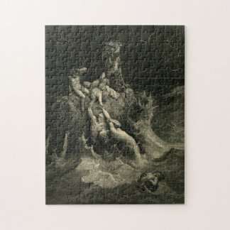 Gustave Doré-The Holy Bible-Plate I, The Deluge Jigsaw Puzzle
