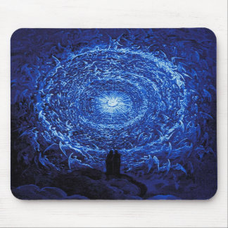 Gustave Dore The White Rose (blue) Mouse Pad