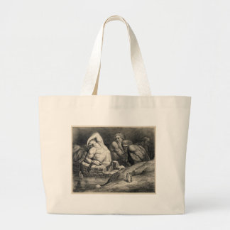 Gustave  Doré's The Titans Jumbo Tote Bag