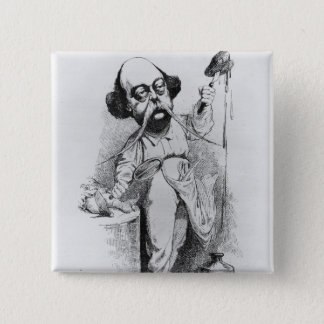 Gustave Flaubert  Dissecting Madame Bovary 15 Cm Square Badge