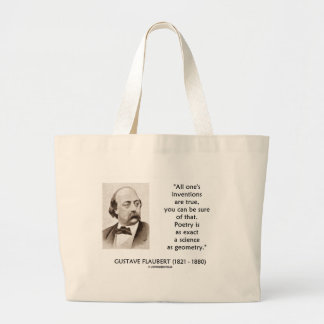 Gustave Flaubert Inventions True Poetry Science Jumbo Tote Bag