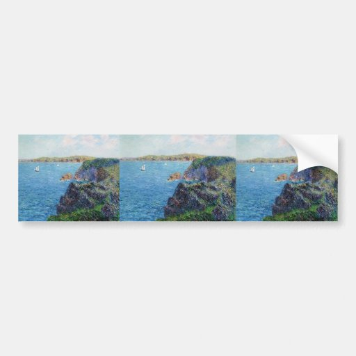 Gustave Loiseau- A Cove at Sevignies Bumper Sticker