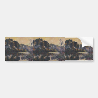 Gustave Loiseau- By the Eure River Bumper Sticker