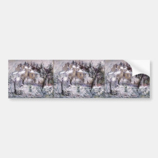 Gustave Loiseau- Houses at Pontoise Bumper Sticker