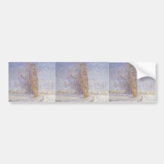 Gustave Loiseau- Landscape in Snow Bumper Sticker