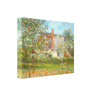 Gustave Loiseau - Orchard in Spring Stretched Canvas Print