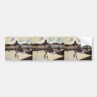 Gustave Loiseau- Port at Dieppe Bumper Stickers