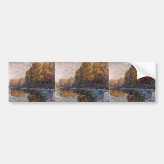 Gustave Loiseau- River in Autumn Bumper Stickers
