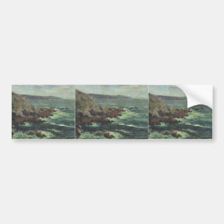 Gustave Loiseau- Rock Cliffs by the Sea in Britain Bumper Stickers