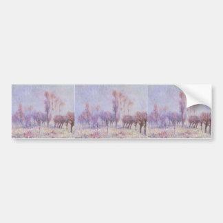 Gustave Loiseau- Willows in Fog Bumper Stickers