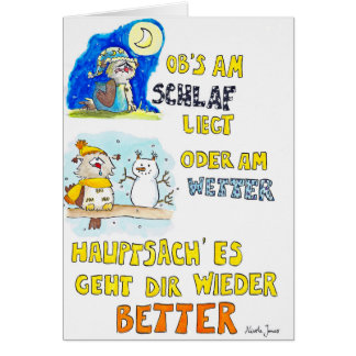 GUTE BESSERUNG greeting card by Nicole Janes