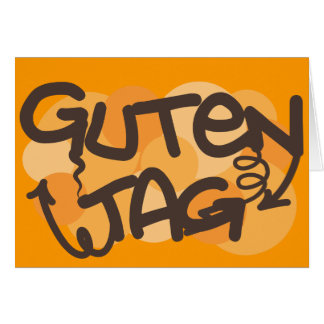 Guten tag German Hello in graffiti style Card