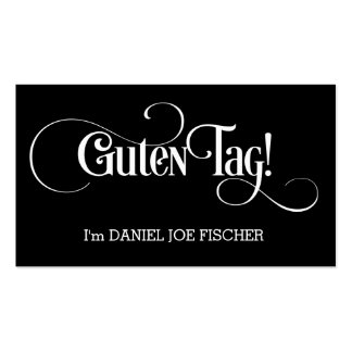 Guten Tag! Hello Greetings! Minimalist Pack Of Standard Business Cards