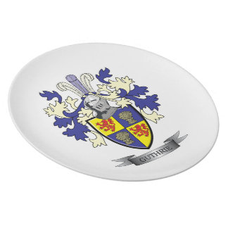 Guthrie Family Crest Coat of Arms Party Plate