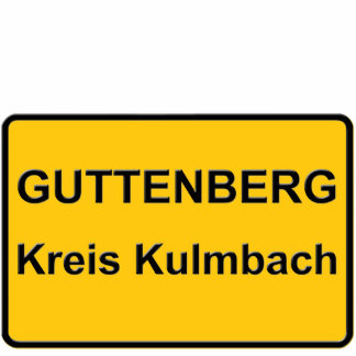 GUTTENBERG CIRCLE KULMBACH PHOTO SCULPTURE