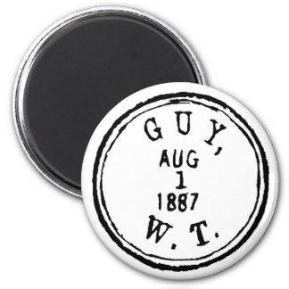 Guy Ghostmark 6 Cm Round Magnet