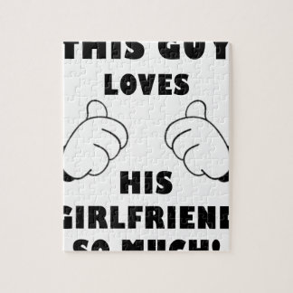 Guy loves Girlfriend Jigsaw Puzzle