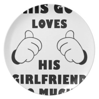 Guy loves Girlfriend Plate