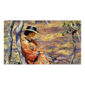 Guy Rose- In the Oak Grove Business Card Template